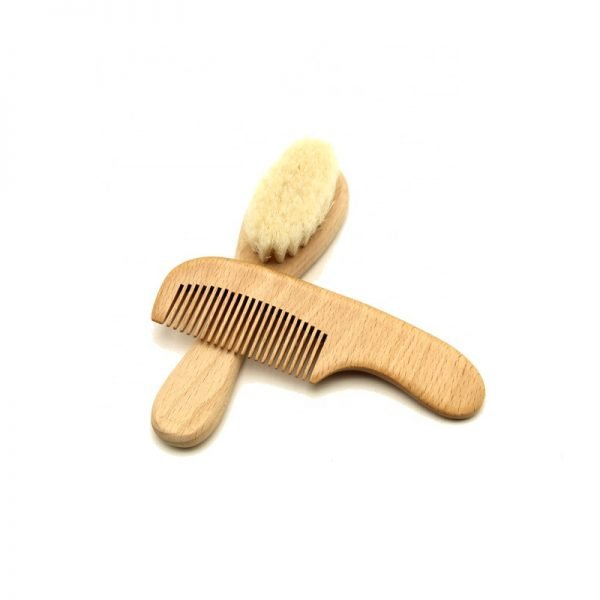Baby Wooden Hair Brush Comb Set