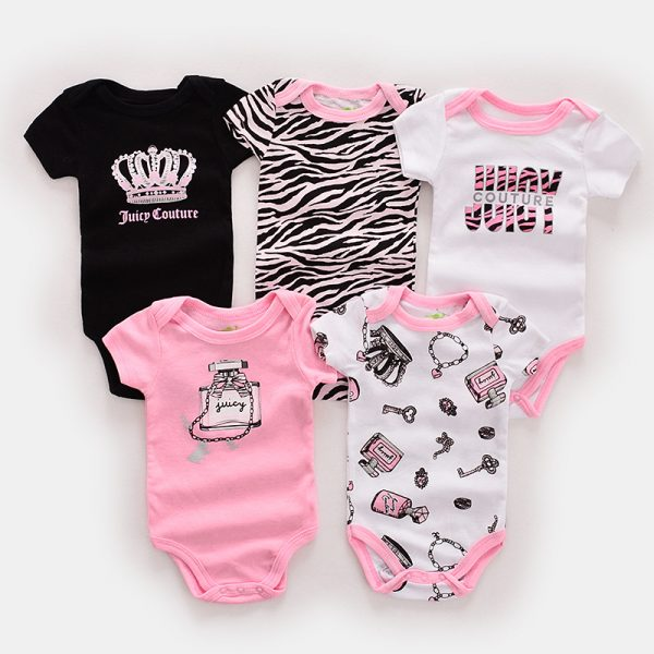Girl Rompers – Set of 5
