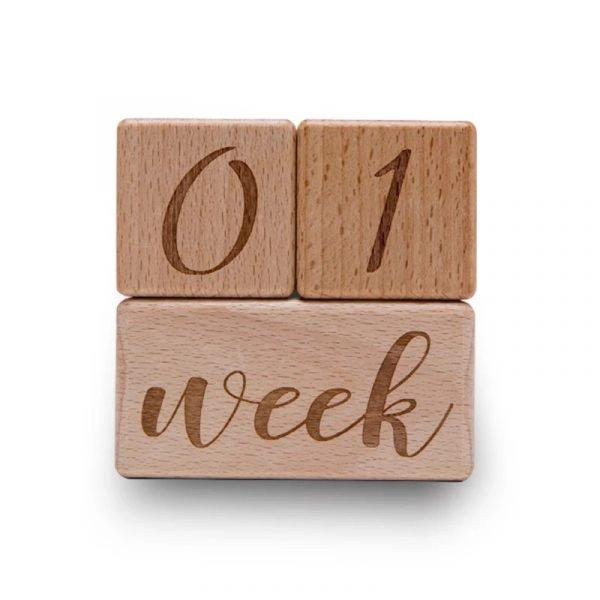 Baby Wooden Milestone Blocks